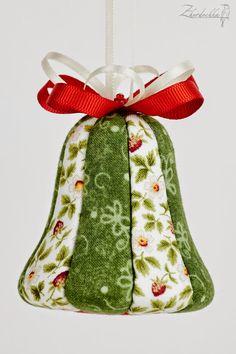On the perch: New Year kimekomi sets / New Year kimekomi sets Shabby Chic Christmas Ornaments, Easy Christmas Decorations, Diy Christmas Ornaments, Handmade Christmas, Christmas Crafts, Christmas Makes, Christmas Bells, Felt Christmas, Folded Fabric Ornaments