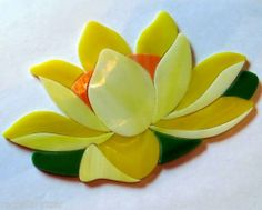 LOTUS WATERLILY precut stained glass art kit. Great addition for your  Mosaic Koi Pond project. Many designs selling on ebay.