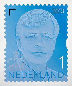 Postzegel Willem Alexander.