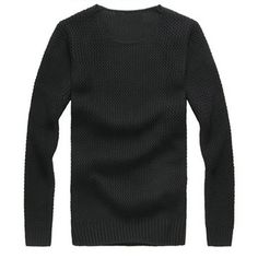 Fashion Mens Slim Sweater Casual Knit Pullover Long-sleeve Sweater at Banggood
