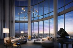 Penthouse at Fifteen Hudson Yards in New York City for Sale – Robb Report New York Penthouse, Luxury Penthouse, Luxury Apartments, Luxury Homes, New York Apartment Luxury, Manhattan Penthouse, Penthouse Suite, Luxury Condo, Dream Home Design