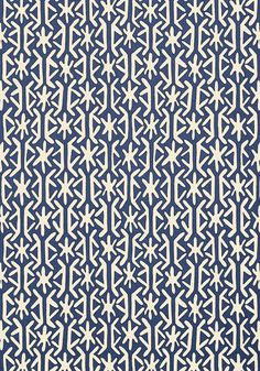 Rinca #wallpaper in #navy from the Biscayne collection. #Thibaut