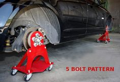 5 Bolt Car Dolly Roll Around Attachments - Car Guy Garage