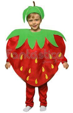Disfraz para Niño y Niña Fresa - Tienda Esfantastica Fruit Costumes, Carnival Costumes, Halloween Costumes, Nutrition Month Costume, Fancy Dress For Kids, Very Hungry Caterpillar, Baby Dress, Christmas Ornaments, Creative
