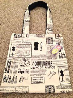 Black & White Designer Tote Bag made by Charli