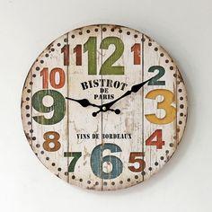 Hot ZAKKA Wall Clock Living Room Decoration Antique Style Needle Quartz Clocks Single Face Round Watch