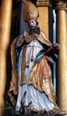"""Saint of the Day – 13 January – St Hilary of Poitiers (315-368) Father & Doctor of the Church, Bishop, Confessor, Writer, Philosopher, Theologian, Preacher, Defender of the Faith. He was sometimes referred to as the """"Hammer of the Arians"""" (Latin: Malleus Arianorum) and the """"Athanasius of the West."""" His name comes from the Latin word for happy or cheerful. St Hilary was born in 315 at Poitiers, France and he died in 368 ...."""