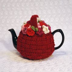 flower basket hand knit tea cosy by chi chi moi | notonthehighstreet.com