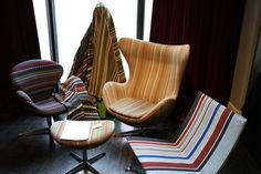 Paul Smith Fabrics on some awesome Tub Chairs!! WANT!