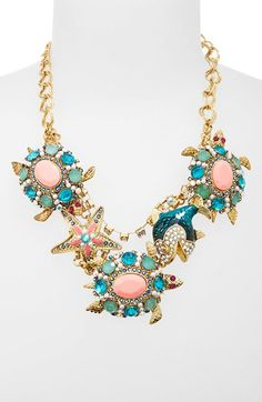 Betsey Johnson 'Shell Shocked' Frontal Necklace | Nordstrom