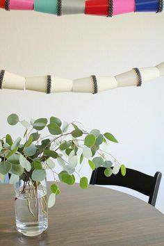 DIY Paper Garland : DIY Paper Cup Garland