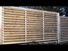 Как построить деревянный забор - YouTube