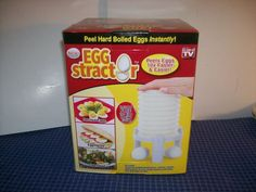 EggStractor Hard Boiled Egg Peeler New As Seen On TV Plus Recipe Guide White #EggStractor