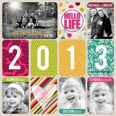 Page de garde du PL Lindsay Teague Moreno: 2013 Project Life