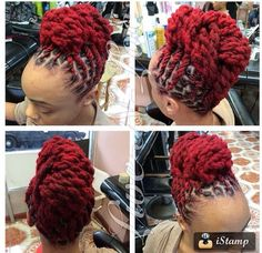 That red tho Dreadlock Hairstyles, African Hairstyles, Girl Hairstyles, Wedding Hairstyles, Pelo Natural, Natural Hair Care, Natural Hair Styles, Dreadlock Styles, Dreads Styles