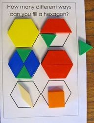 GEOMETRY, REASONING, AND PROOF. When children investigate the result of putting togather and taking apart hexagon, children understand composing and decomposing.