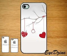 Valentine Apple IPhone - IPhone 5 Case - IPhone 4s Case - IPhone 4 Case. $16.99, via Etsy.