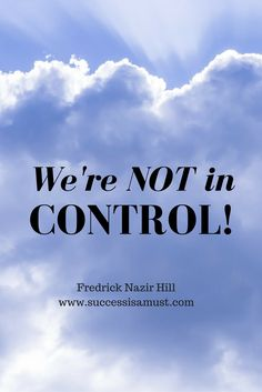 We plan. We wait. Then it doesn't happen when or how we want. No, we're actually NOT in control of our lives. At the right time, you'll have your season!
