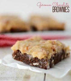German Chocolate Brownies | crazyforcrust.com | #brownie #chocolateparty