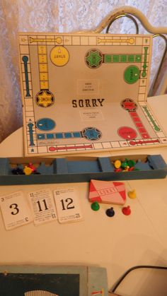 Vintage 1950 SORRY Board Game  Retro Parker Brothers. $15.00, via Etsy.