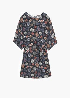 Belt printed dress - Dresses for Women | MANGO