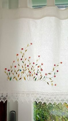 Japanese Embroidery 커튼바란스 자수패키지 : 네이버 블로그 Hand Embroidery Patterns Flowers, Hand Embroidery Dress, Japanese Embroidery, Hand Embroidery Stitches, Crewel Embroidery, Hand Embroidery Designs, Embroidery Techniques, Embroidery Kits, Embroidery Needles