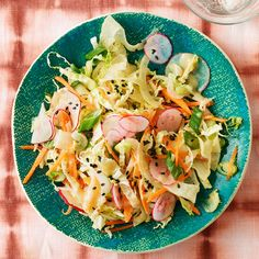 Mixed Veggie Slaw with Miso Dressing