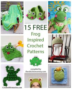 15 Free Frog-Inspired Crochet Patterns compiled by The Stitchin' Mommy | www.thestitchinmommy.com