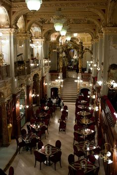 The New York Café at Boscolo New York Palace Hotel in Budapest, Hungary