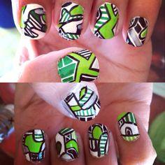 My abstract nails! #nailart #naildesign #abstract #abstractnailart