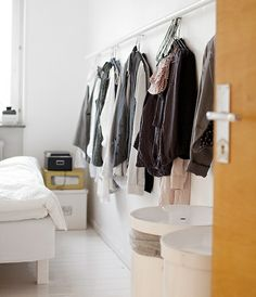 Clothes on the wall