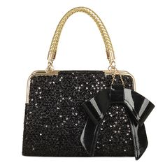 Fashion bow sequins hundred pro-mobile diagonal handbag