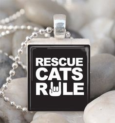 Rescue Cats Rule Pendant
