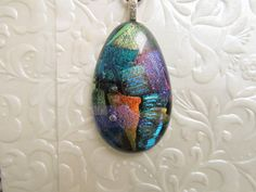 Fused Dichroic Pendant  Fused Glass Jewellery  by feesfusions #pendant #jewelry #fusedglass