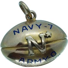 Navy Football, Football Team, Championship Football, Golden Ring, Army & Navy, Butler, Jr, Vintage Jewelry, Charms