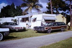 https://flic.kr/p/A3uKdH | Vintage Found Photo - Florida - October  1973 | How about that old Ford wagon?  Country Squire?