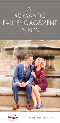 Are you a NY bride looking for classic, timeless engagement inspiration? This engagement session features Central Park and Bethesda Fountain. Click to see more! #idaliaphotography #nycengagement #centralpark