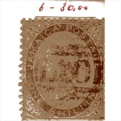 QV Jamaica 1 Shilling Yellow-Brown (SG6) used with light A01 Kingston cancel