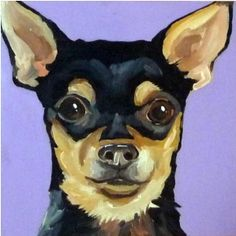 This looks JUST LIKE MY DOG! - Chihuahua Painting