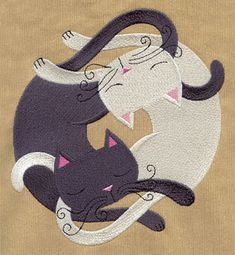 Infinite Kitties | Urban Threads: Unique and Awesome Embroidery Designs