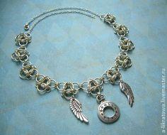 """Колье """"Вне времени"""" - серебряный,колье,Металлическое колье,время,часы"""