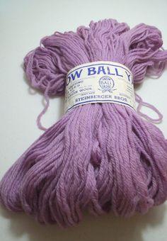 Vintage 100 Virgin Wool Yarn Lavender Snow by BridenetVintageLinen, $18.00