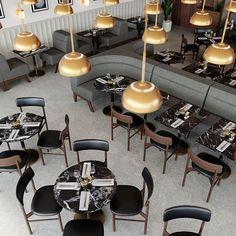 Novak Banquette Banquette Seating Restaurant, Cafe Seating, Wood Dining Bench, Dining Chair Set, Dining Nook, Oversized Furniture, Restaurant Design, Restaurant Booth, Restaurant Interiors