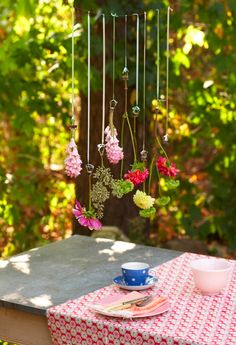 hanging flower deco