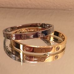 Love bracelet 16cm love bracelet with white stones gold plated comes with screw. New ! All offers will be considered  not Cartier just for exposure Cartier Jewelry Bracelets