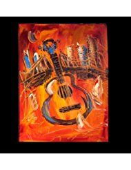 Guitar Art For Sale By Artist Mark Kazav Ready To Display Palette Knife Texture Impressionist Fine Art Gallery Red Fine Art Painting Fine Art Gallery Painting