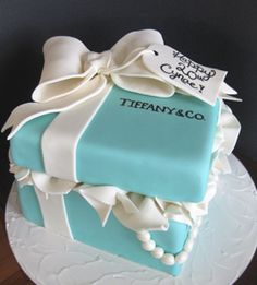 cute idea... I think everyone is starting to get the point that I would like a Tiffany themed party of some kind.