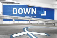 World Square: Splashes of colour make parking fun — BrandCulture Park Signage, Directional Signage, Wayfinding Signage, Signage Design, Environmental Graphic Design, Environmental Graphics, Car Parking, Parking Lot, Parking Signs