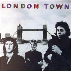 Album cover, London Town by Paul McCartney, 1978.