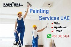 ✔ House, Apartment & Villa Painting Services ✔ Book move-out house painting free quotes ✔ WhatsApp / Call 058 688 5424 #Homepainting #PaintingServicesDubai #DubaiPainters #VillaPainting #paintingCompaniesUAE Professional Painters, Painting Services, Cleaning Services, Moving Out, Free Quotes, Abu Dhabi, House Painting, Dubai, Villa